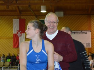 Zeigte eine sehr Gute Leistung: Ramona Dandl mit Trainer Robert Niedermeier